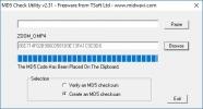 Скриншот №1 к программе MD5 Checker