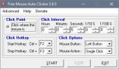 Скриншот №1 к программе Free Mouse Auto Clicker