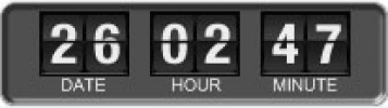 Скриншот №1 к программе Flip Clock Widget