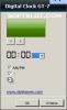 Скриншот №2 к программе Digital Clock GT-7